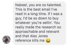 nabeel azeez email copywriting testimonial